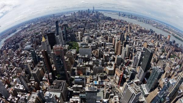 Vue panoramique de New York City