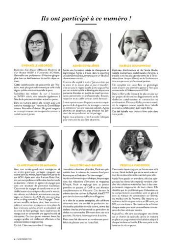 Contributeurs du magazine Esprit Berry n°9