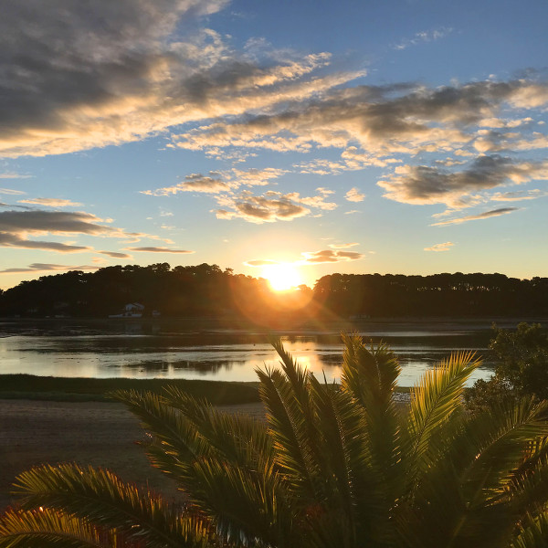 Lever de soleil sur le lac d'Hossegor
