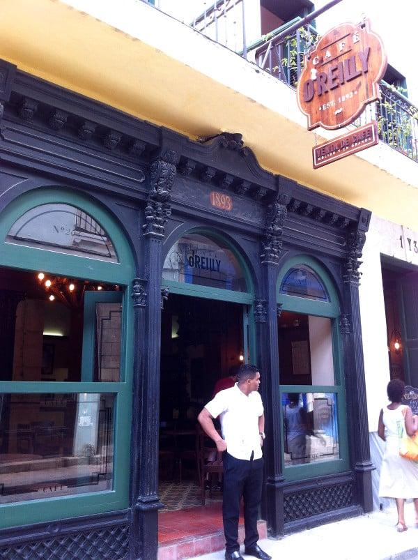 L'extérieur du café O'reilly