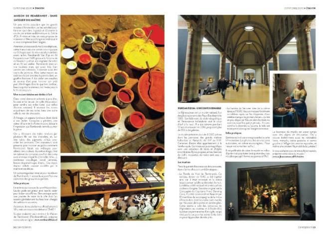 pages 3 et 4 de l'article Amsterdam arty paru dans le magazine Esprit Berry n°11