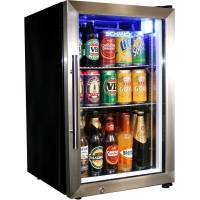 Glass Door Mini Beer Fridge With Lock