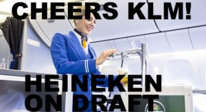 La birra bionda Heineken sarà servita negli aerei Klm