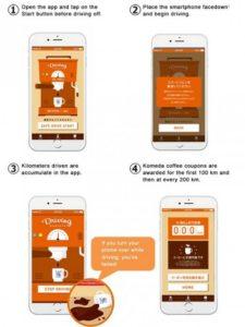 Caffè in regalo a chi guida senza cellulare