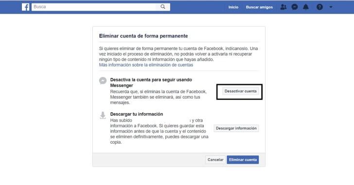 إلغاء تنظيف حساب Facebook