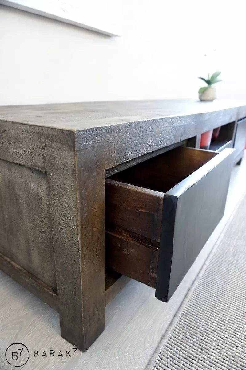 meuble tv bois et metal design 19