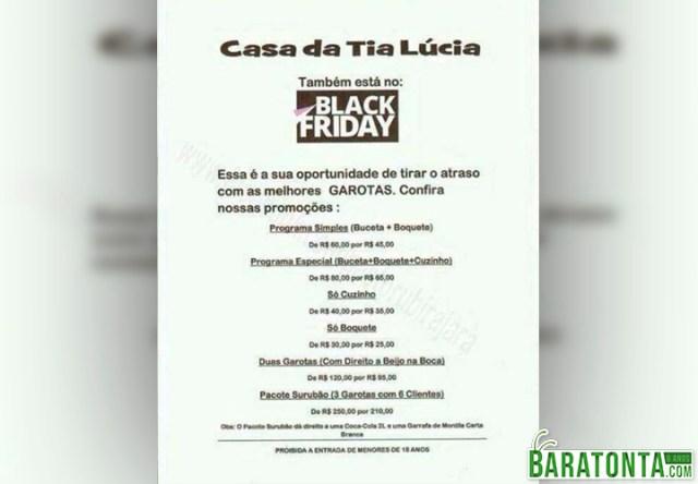 Black Friday da Tia Lúcia