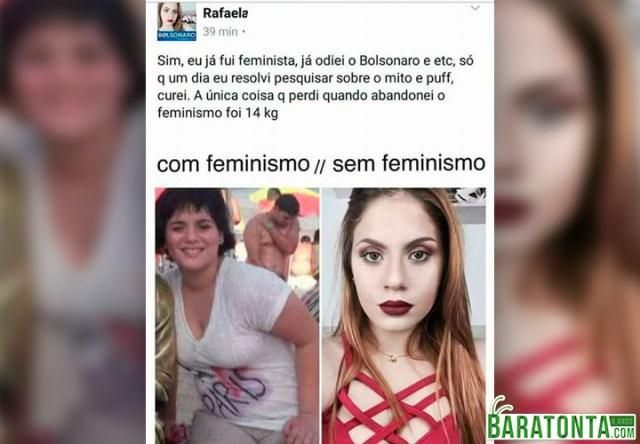 Com feminismo vs Sem feminismo