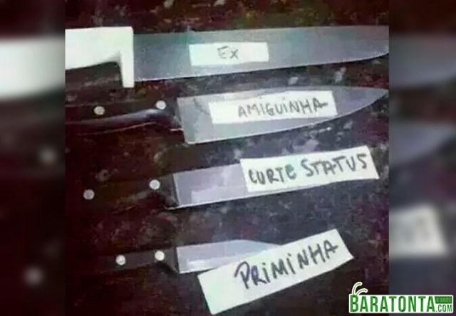 Coleção de facas preferida da mulherada