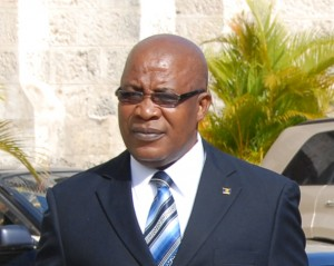 Minister of the Environment and Drainage Dr Denis Lowe