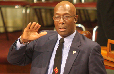 T&T Opposition Leader Dr. Keith Rowley.