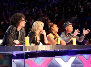 FROM LEFT: Howard Stern, Heidi Klum, Mel B and Howie Mandel.