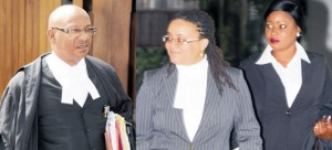 Roger Forde QC (left) Shanique Myrie (right).