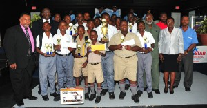 Big winners St. Leonard's Boys with Ministry officials.