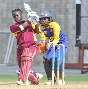 Deandra Dottin top-scored for the West Indies today against Sri Lanka.