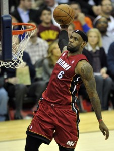 LeBron James did it all for the Heat last night.