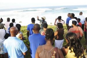 East Coast tour surverys the pounding seas over the weekend.