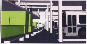 Artist's impression of the inside of new terminal.
