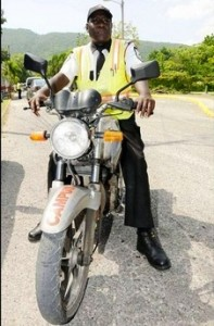 A Jamaican security guard.