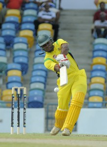 Jamaica's Brenton Parchment on the go during his innings.
