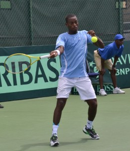 Darian King in action today.