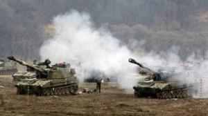 War games on the Korean peninsula.