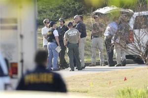 Handout of Gwinnett County Police SWAT members at scene of barricaded gunman in Suwanne