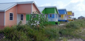 Some of the homes at Parish Land, St.Philip