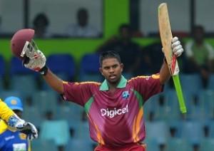 West Indies cricketer Adrian Barath cele
