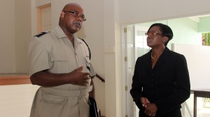 Senior Police Superintendent Euclyn Thompson and Magistrate Barbara Cooke-Alleyne