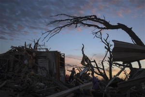 Picture of horror after Monday's tornado.