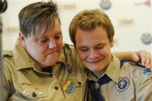 US Scouts moved by the vote.