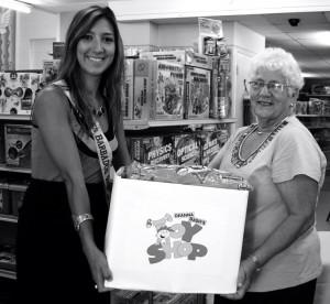 Janine Hinkson and Deanna Clarke, Director of Deanna Dash's Toy Shop Inc.