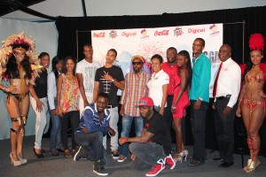 Some of the cast of Celebration Time Calypso Circus.
