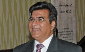 President of the Barbados Chamber of Commerce and Industry Lalu Vaswani