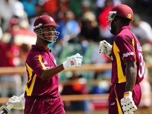 Kirk Edwards (right) and Lendl Simmons are part of a strong side to take on Sri Lanka A.