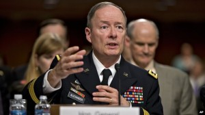 National Security Agency Director Keith Alexander speaking at a hearing yesterday.