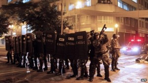 The national security forces in Brazil