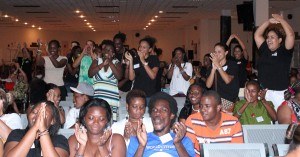 Some of the youth from about 17 countries that came together for the Caribbean Baha'i Youth Conference.