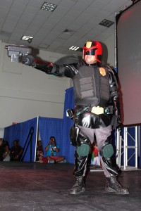 Third placed Richard Robinson in Judge Dredd 2012 cosplay.