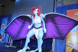 When Trinidad cosplayer Josette James hit the stage at AnimeKon 2013 in her Gargoyles Demona costume the crowd went wild. The costume designer and creator had been designing this piece since February in preparation for the Wibisco Teatimes Cosplay Competition.