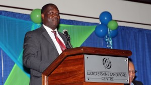Minister of Industry, International Business, Commerce and Small Business Development, Donville Inniss (FP)