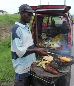 Corn vendor, Ian Webster