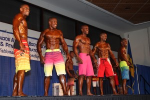 An impressive line-up in the men's physique category.
