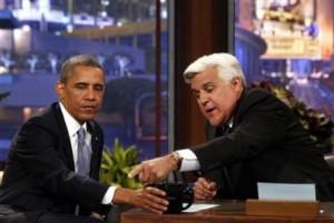 President Barack Obama and Jay Leno