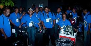 he Barbados contingent at CARIFESTA.