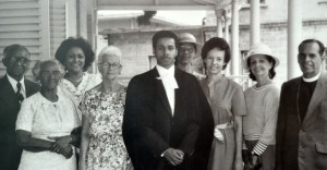 A young David Comissiong surrounded by family after he was admitted to the bar.