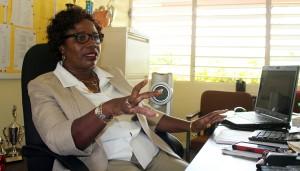 Principal at Selah Primary, Maxine Husbands speaking to  Barbados TODAY
