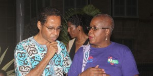 President of the Clement Payne Movement David Comissiong and President of the National Organisation of Women, Marilyn Rice-Bowen