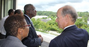 "Real estate developer Paul Altman pulled out all the stops today when he showed off Barbados' ""mall of malls"", Limegrove Lifestyle Centre, to Prime Minister Freundel Stuart."